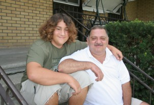 Moe with his father