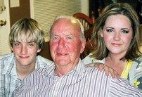 Ryan and Caitlin with their father