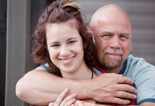 Renee with her father