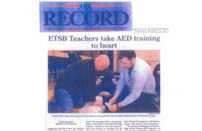 2013-05--The-Record-ETSB-Teachers-Take-AED-Training-to-Heart