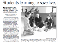 TimesTranscript-Students-Learning-To-Save-Lives