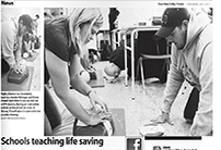 2013-07-03-Cowichan Valley Citizen-Schools teaching lifesaving skills