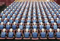 group of cpr mannequins in theatre seats