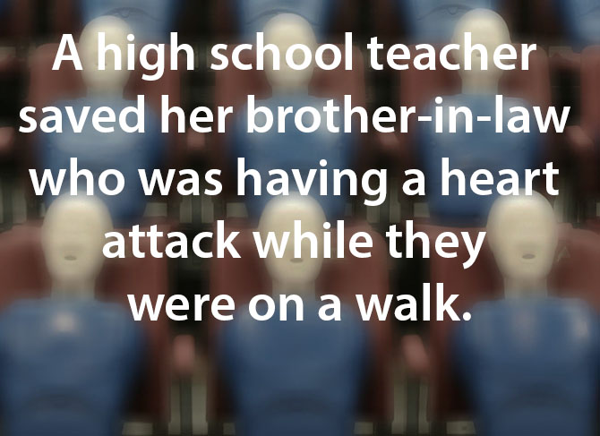 teacher saves brother-in-law during heart attack image