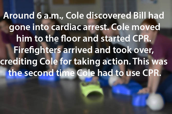 cole saves bill during cardiac arrest image