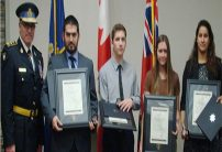 Sudbury students with police chief