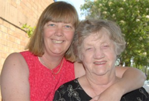 Christine with her mother