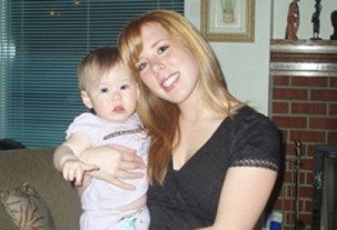 Kaydie Taylor with her son