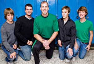 Steve with his students