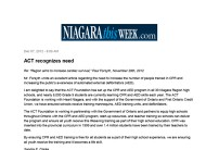 Niagara This Week post