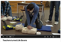 teachers doing CPR