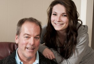 Jenysse with her father