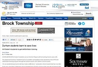 Brock Township post
