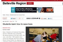 Belleville Region News post