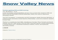 Snow Valley News post link