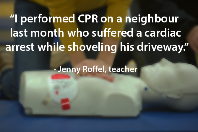 teacher saves neighbour with CPR image