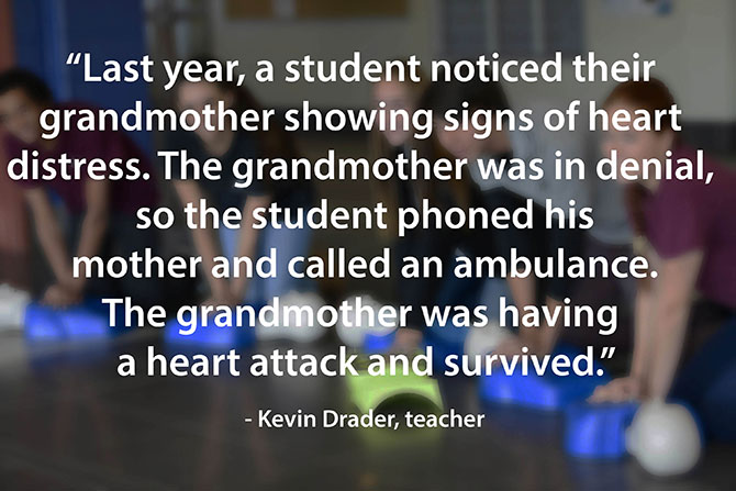 student helps grandmother during heart attack image
