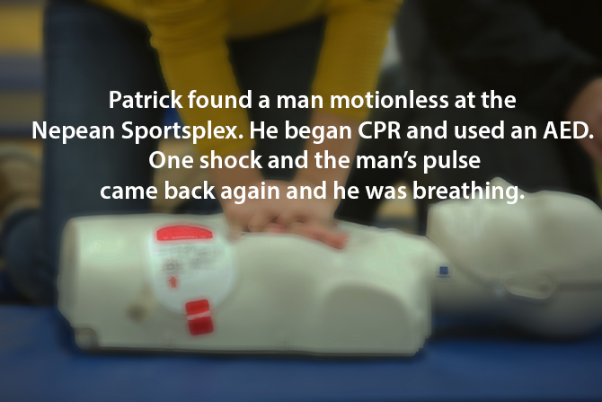 patrick saves a man with cpr