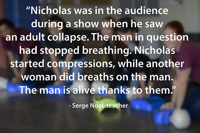 student saves life of a stranger during a concert image