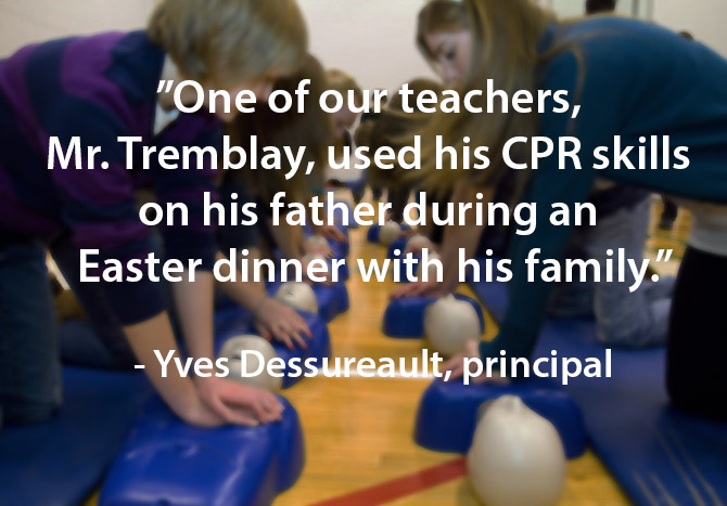 teacher uses CPR skills on dad during easter dinner image